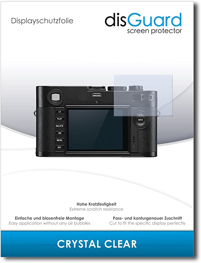 2x Displayschutz Klar für Leica M Monochrom Typ 246 Schutzfolie Displayfolie