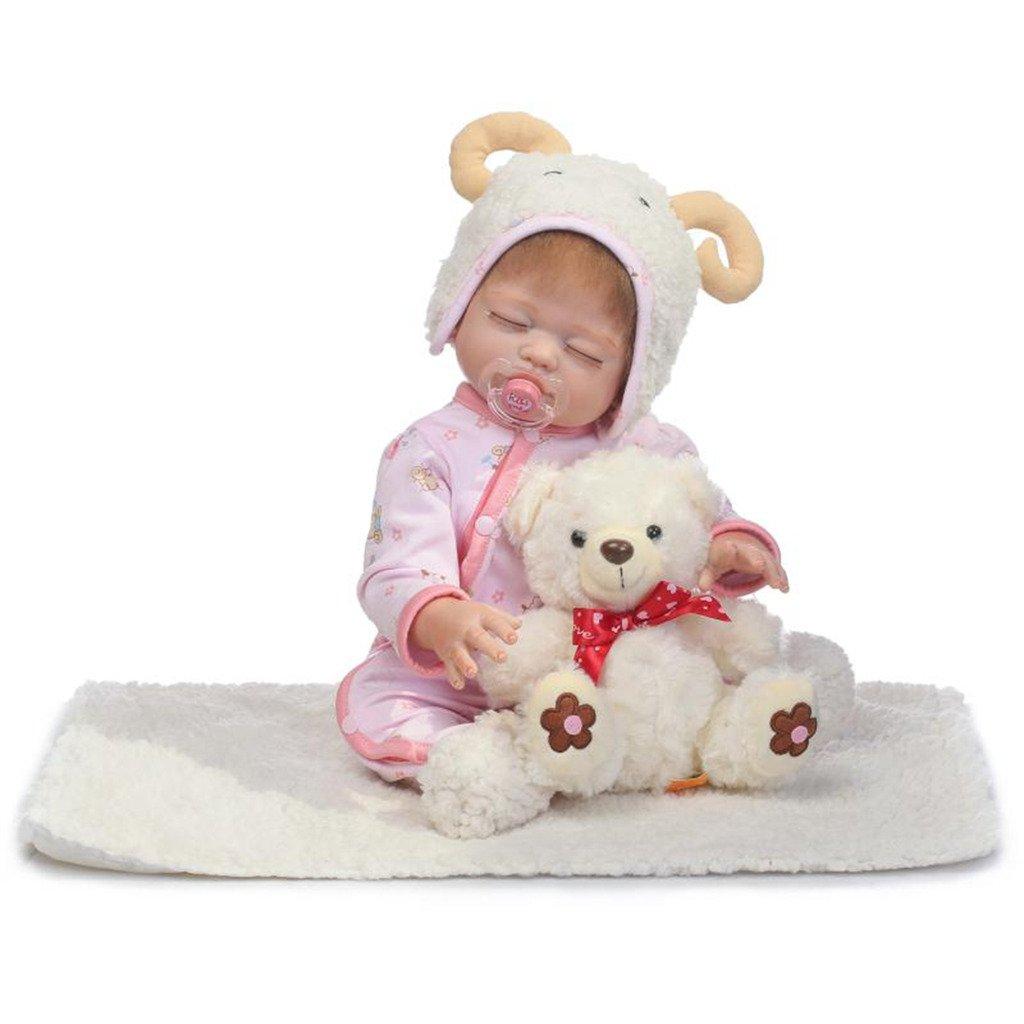 Promoción por tiempo limitado Npkdoll Baby Doll 50,8 cm de haut en vinyle 48–50 cm de vos vêtements Cute Girl avec de jolies Yeux fermés Couverture Chapeau tétine aimantée toucher confortable sans danger des matéria