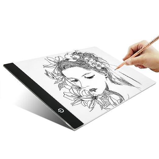Tablet luminosa BIGWING Style A4 tamaño PAD para dibujar tatuaje ...