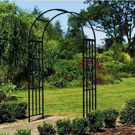 Gothic Garden Arch Steel Construction in Verdigris Powder Coat Finish