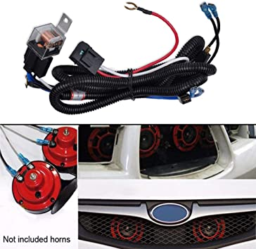 GTP 12V Horn Wiring Harness Relay Kit For Car Truck Grille Mount Blast Clic Chevy Horn Relay Wiring on