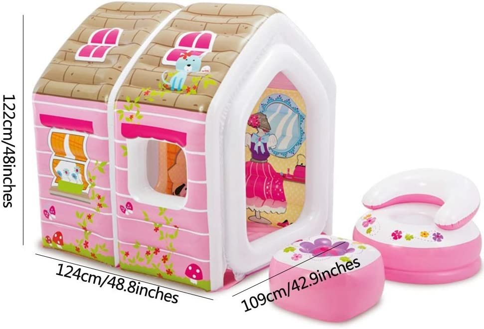 Amazon.com: Castillo inflable para niños, color rosa, casa ...