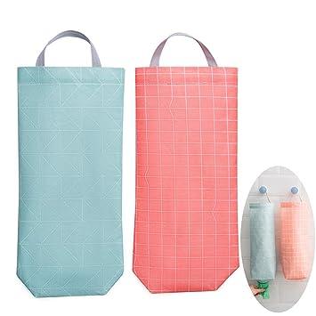 Impermeable Basura Bolsas Dispensador para Cocina, Reutilizable Colgando Plastico Bolsas Poseedor Basura Bolsas Organizador Reciclaje Tienda de comestibles ...