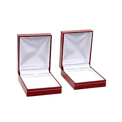 Red Necklace Gift Box Set Of 2 Emitations Amazon Co Uk Jewellery