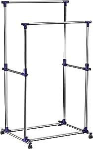 SONGMICS Double Rod Garment Clothing Rack