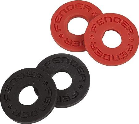 Fender ストラップロック Fender® Strap Blocks 4個セット(黒2個、赤2個)