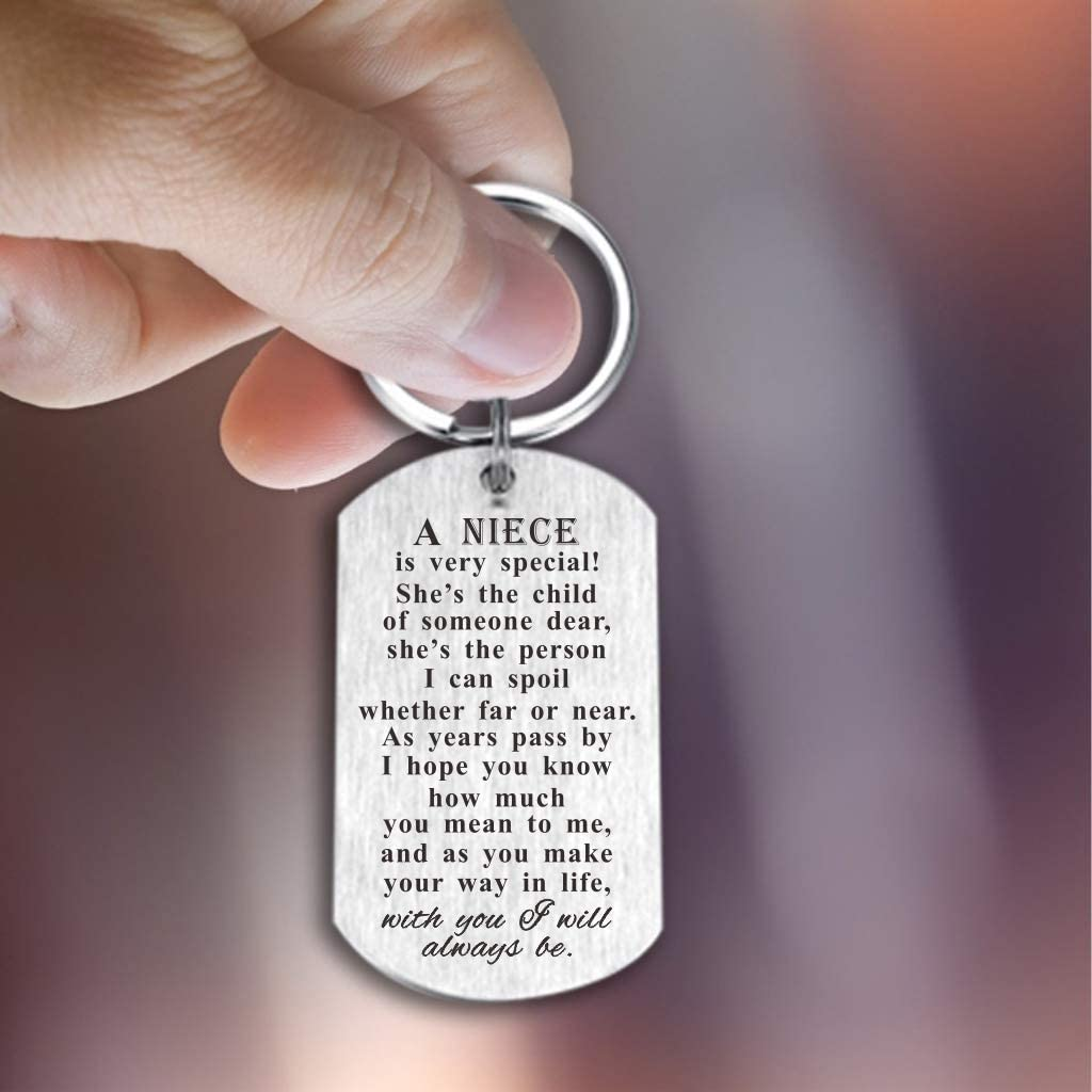 Boys Girls Key Rings Christmas Dog Tag Gifts Idea Niece Nephew Birthday Keychain Gift From Uncle Aunt