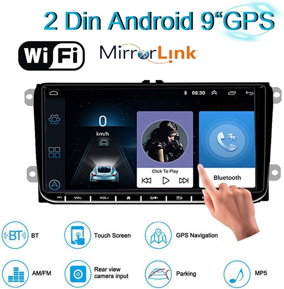 2 DIN 9 Pulgadas HD Android Navegación GPS WiFi Mirror Link ...