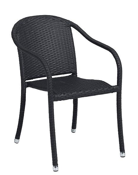 Lote de 2X sillón Bram Aluminio Rattan Trenzado sintético ...