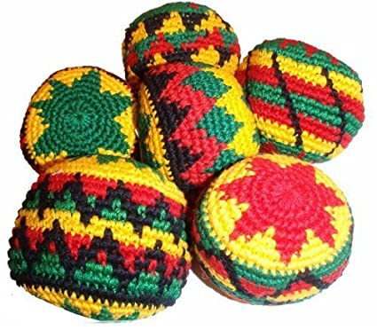 Amazon Rasta Assorted Hacky Sack Footbag Quantity 1 Hand