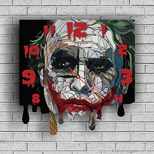 Arkham City Joker Mask (BATMAN - JOKER WALL CLOCK Quiet Sweep Movement Decorative Battery Operated 11,8 Inch – for devoted fans of DC comics.)
