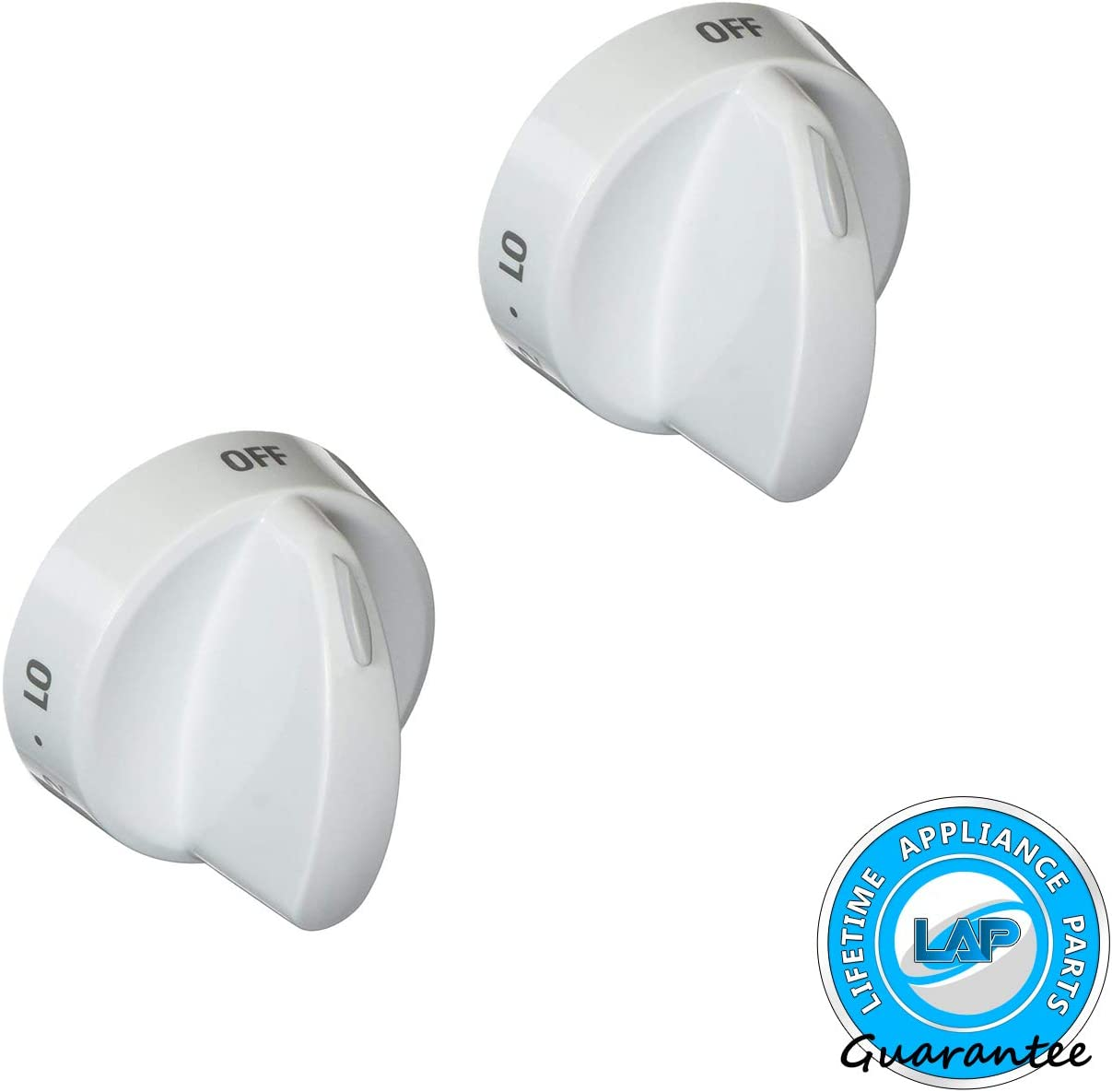 Lifetime Appliance 2 x 316442512 Surface Burner Knob Compatible with Frigidaire, Kenmore, Sears Range Oven
