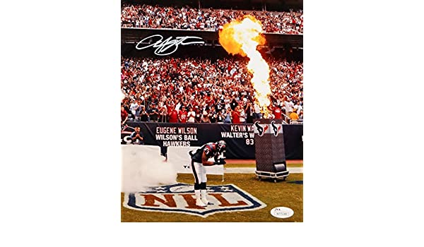 b32b4c07 Arian Foster Autographed Texans 8x10 Bow Near Fire Photo- JSA W ...