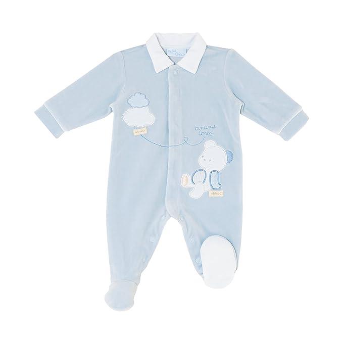 Chicco - Pelele - para bebé niño Azul Celeste 1 Mes: Amazon.es: Ropa y accesorios