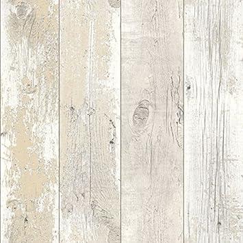 Driftwood Papier Peint A Motif De Bois Vieilli Blond Delave