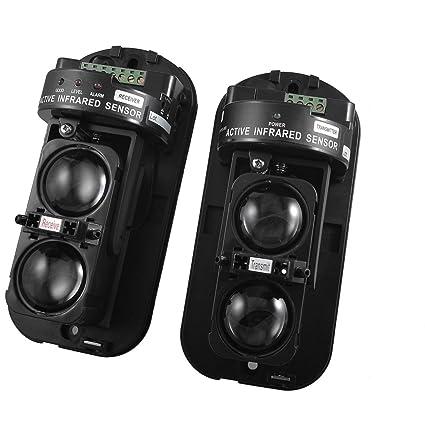Alarma de seguridad para el hogar 2 haz óptico fotoeléctrico detector de infrarrojos