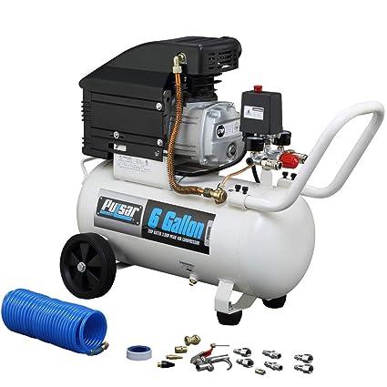 Electric Air Compressor >> Pulsar Pce6060k Horizontal Electrical Air Compressor 6 Gallon