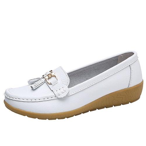 STRIR Mocasines Planos para Mujer - Zapatos Comodos Plataforma Cuña, Adecuado para Oficina y Uso Diario: Amazon.es: Zapatos y complementos
