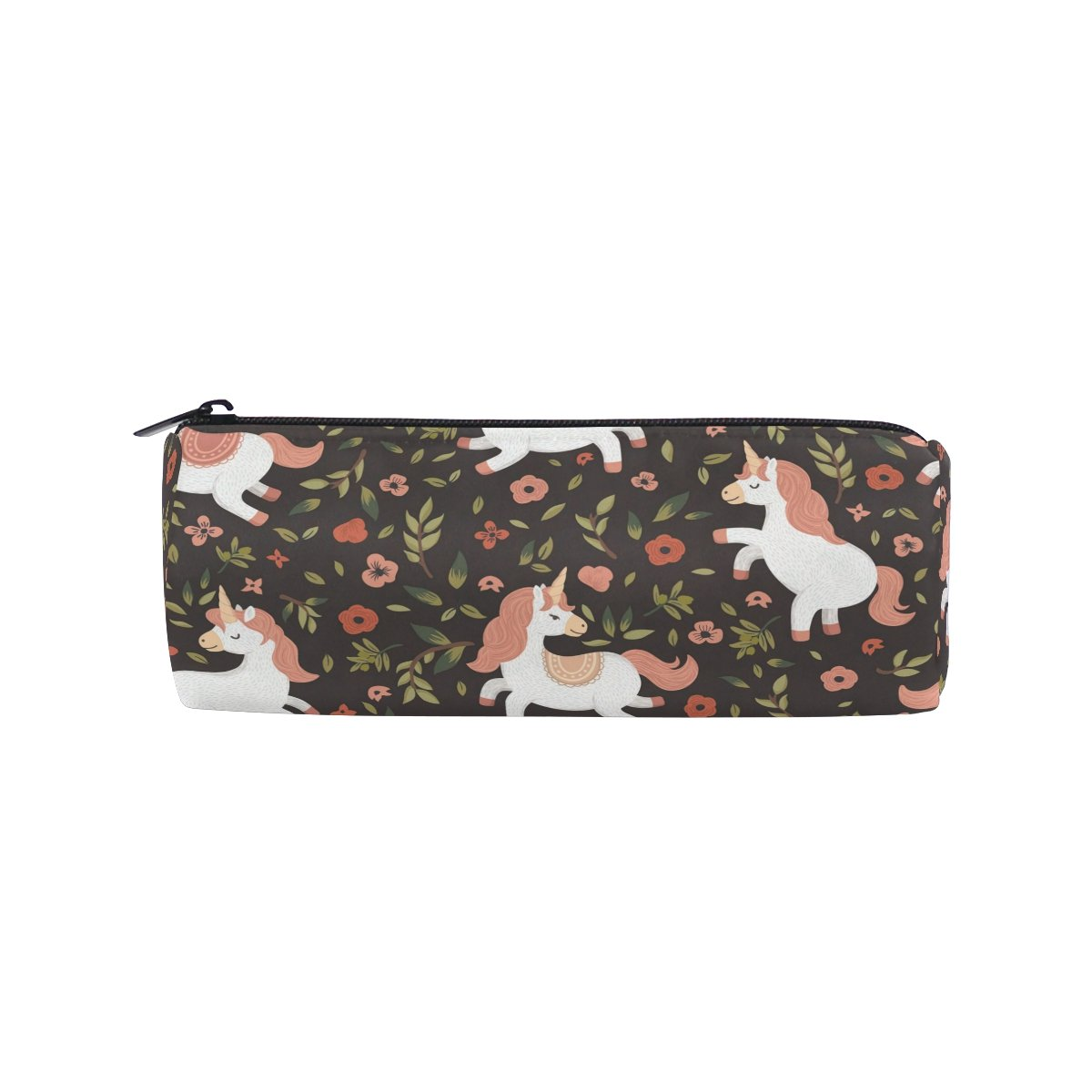 ALAZA Unicorn Walking Forest Barrel Cotton Pencil Pen Bag Pouch Case Holder School Supplies for Student Teens
