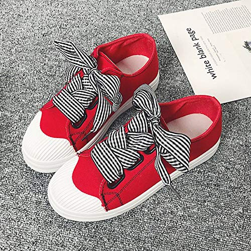 Comfort piatto Bianco Tacco Scarpe Red Sneakers tonda Estate PU da Nero donna Punta ZHZNVX Rosso poliuretano UpqYz