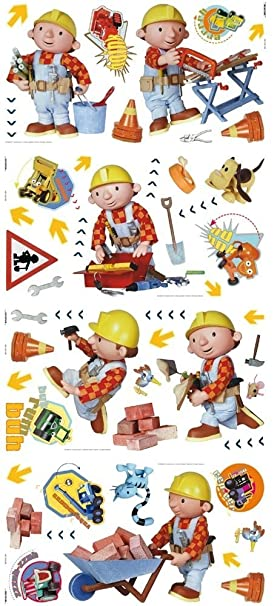 Decofun, 53 Bob The Builder Wall Stickers   Stickarounds/Stikarounds
