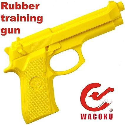 YELLOW  POLICE OR MILITARY TRAINING Rubber Training Gun