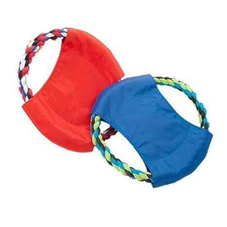 Fully 2 x Perros juguete pelota Frisbee perro perros Balón de ...