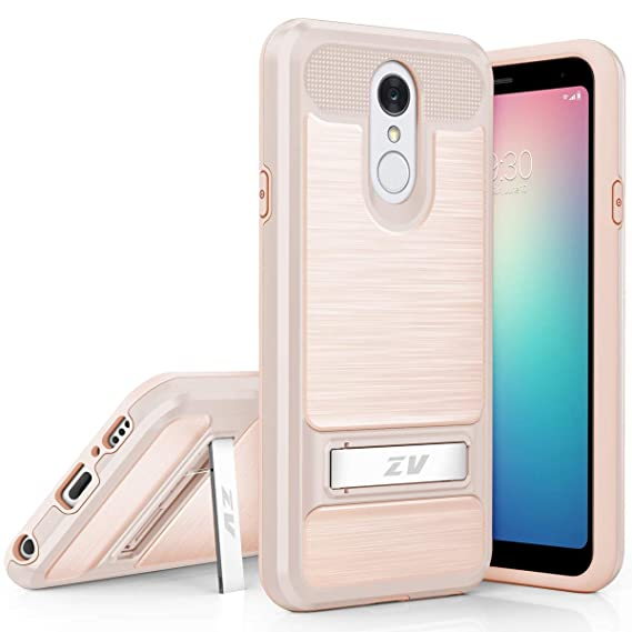 huge discount 6b466 e1faf Phonelicious Phone Cover for LG Q7 Plus, LG Q7+ Case with Kickstand Heavy  Duty Rugged Slim Durable Hybrid Shockproof Protection Screen Protector ...