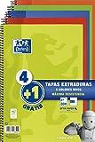 Oxford - Pack de 5 cuadernos (tapa extradura, 80 hojas, cuadrícula 4x4 con margen, colores surtidos vivos)