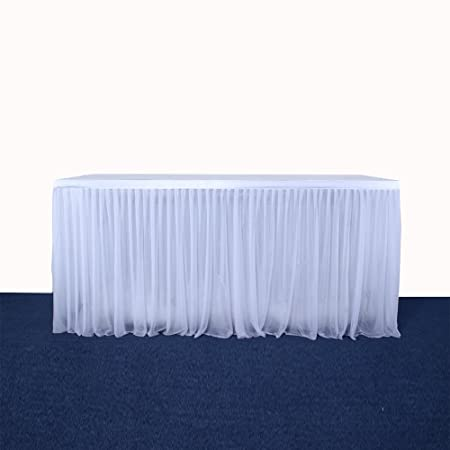 Falda de mesa, mantel para decorar la mesa, mantel de gasa, para la fiesta de cumpleaños, partido decoración del hogar