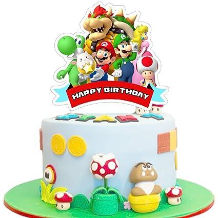 Mario - Decoración para tarta de cumpleaños, decoración para ...