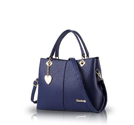edcf2dc0a0f3 Nicole Doris 2016 female bag new simple fashion big bag handbag women s  singles Bag Messenger Bag women purse(Sapphire)  Amazon.ca  Luggage   Bags