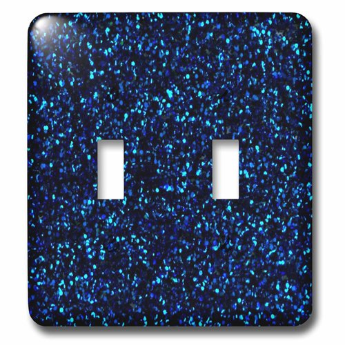 3dRose lsp/_194761/_2 Print of Navy Blue Sequins Double Toggle Switch Multicolor