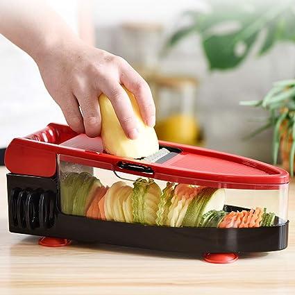 Amazon.com: ZEMER Mandolina cortador de verduras – 6 en 1 ...