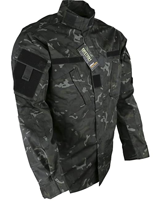 Black Hooded Anorak All Sizes Field Jacket Smock Coat Army Military Fleeced