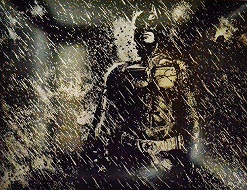 Batman Metal Painting Dark Knight Rises Movie Poster Bat Man DC Comics...