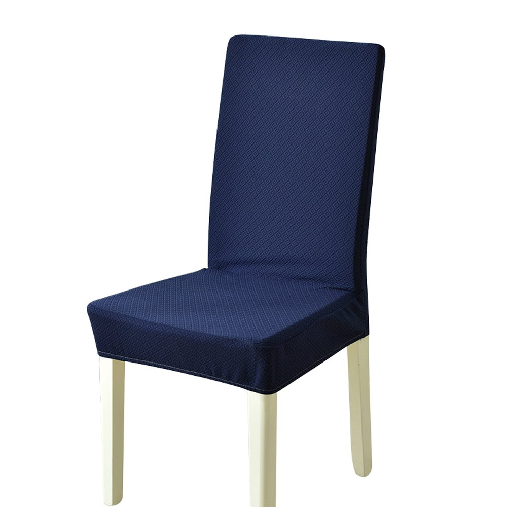 A sunflower Pure Colors Stretch Dining Room Chair Slipcovers (Navy Blue, 2 PIECES)