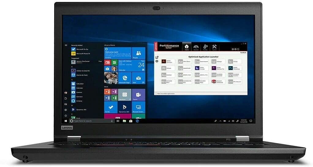Lenovo ThinkPad P73 Laptop, 17.3 inches FHD (1920 x 1080), Intel Core i7-9750H, 16GB RAM, 512GB SSD,2, NVIDIA Quadro T2000, Windows 10 Pro (Renewed)