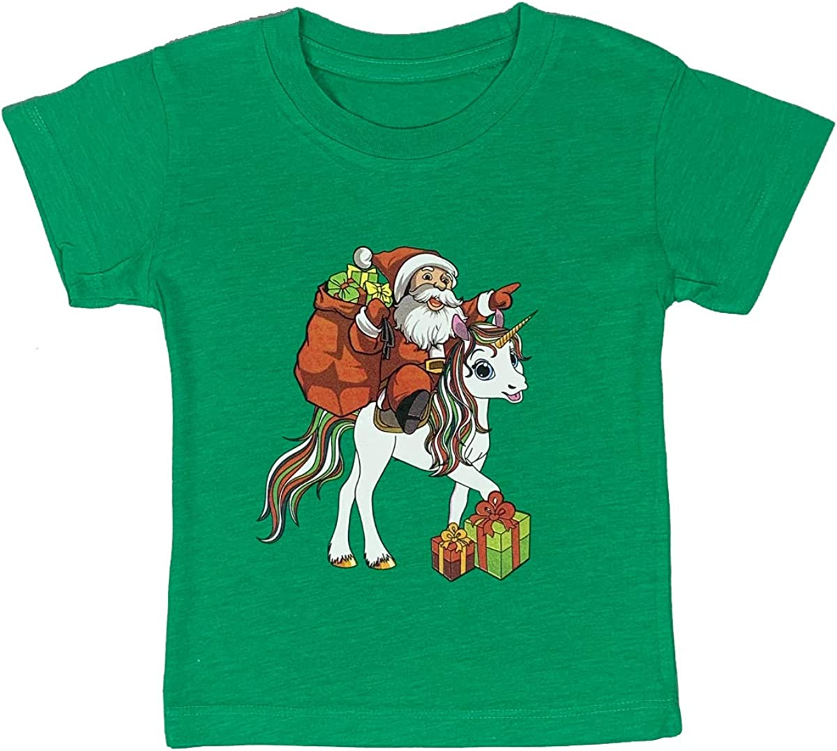 Santa Dinosaur Toddler Baby Christmas Holiday Shirt Christmas Truck Santa Unicorn and Rhinestone Tree Youth