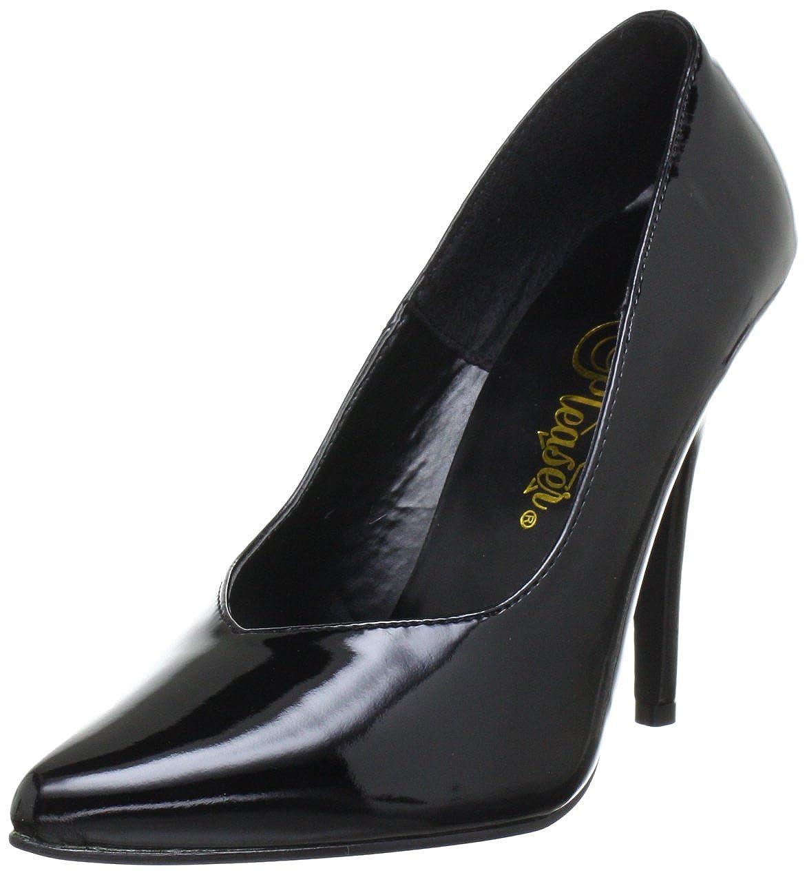 TALLA 39 EU. Pleaser EU-SEDUCE-420V, Zapatos de tacón con Punta Cerrada para Mujer