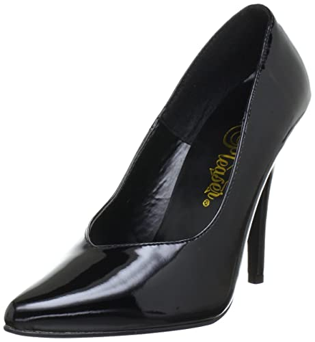 Pleaser EU-SEDUCE-420V - Zapatos de tacón de material sintético mujer, Nero