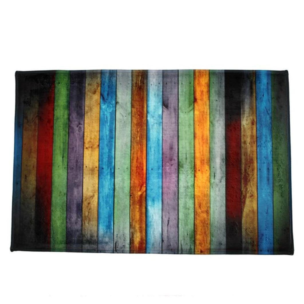 Inverlee Dining Room Home Entrance Carpet Home Decoration,Multicolor Shaggy Soft Area Rug Bedroom Rectangle Floor Mat Multicolor, 40x120cm