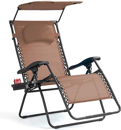 Amazon.com: Goplus - Silla reclinable plegable para ...