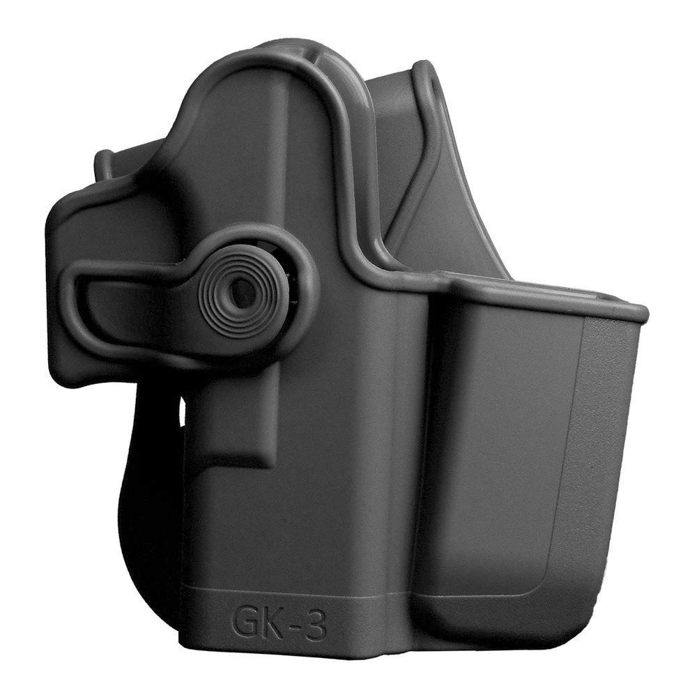 Defense Glock Glock Glock 17/22/31/32/glock Glock Glock Glock 19/23/36 Polymer Retention Roto Holster con integrada, con Bolsillo para Cargador