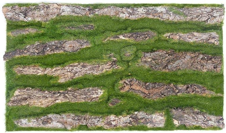 SUXIAO 30 / 100x50cm Corteza de Pino Seca Real con Musgo Artificial para Pipa de Agua Pilar Envoltura Piel de árbol Flor Falsa Decoración del hogar de Bricolaje, Verde, 30x50cm: Amazon.es: Hogar
