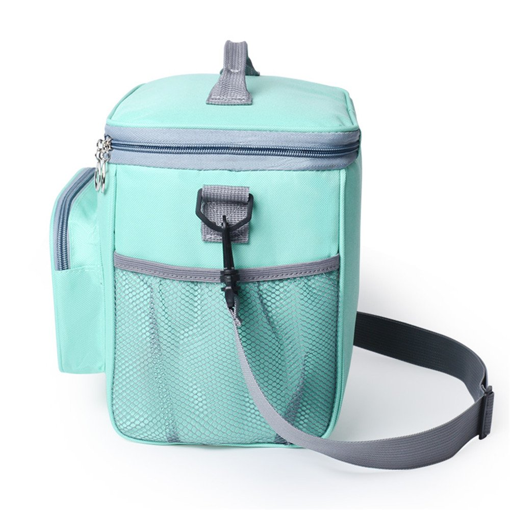 Adult Lunch Bag Insulated Lunch Box Large Cooler Tote Bag for Men & Women, Double Deck Heat-Resistant Coolers with Adjustable Shoulder Handbag(Blue) by Msicyness (Image #8)