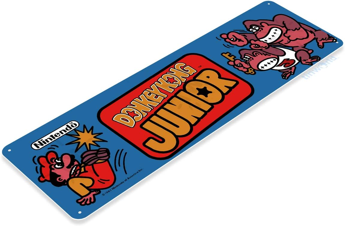 Classic Arcade Game Marquee Donkey Kong Arcade Sign Game Room Tin Sign A331