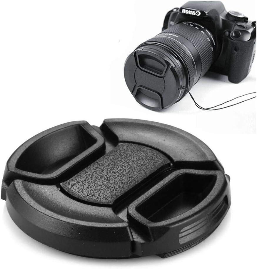52mm Center Pinch Camera Lens Cap Durable Black
