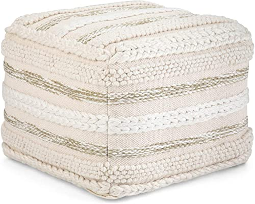 SIMPLIHOME Sommer Square Pouf