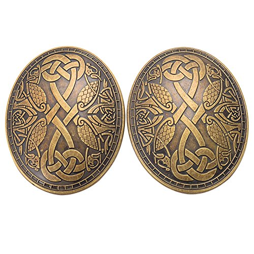 GRACEART Medieval Viking Brooch (1 X Pair) ()